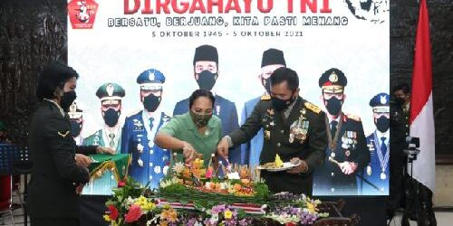 Kapolda Bali Beri Kejutan Spesial pada HUT ke-76 TNI di Makodam Udayana