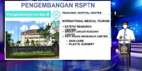 """Webinar """"Inovasi Pelayanan Covid-19 Rumah Sakit Universitas Udayana Menuju Indonesia Bangkit"""", Rektor Unud: RS Unud Jalankan Dua Fungsi"""