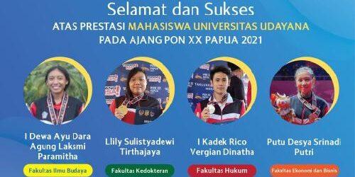 4 Mahasiswa-Mahasiswi Unud Ukir Prestasi Gemilang di PON Papua, Turut Antarkan Kontingen Bali di Peringkat 5