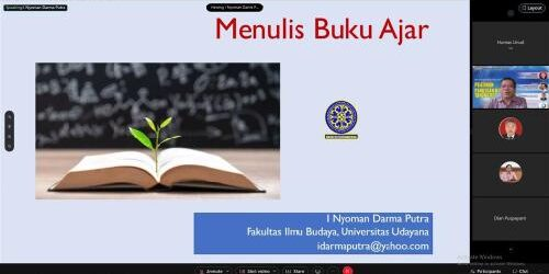 Dorong Civitas Akademika Unud Rajin Menulis Buku, Udayana University Press Gelar Pelatihan Penulisan Buku Ajar Tahun 2021
