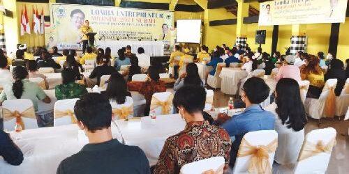 Babak Final Lomba Entrepreneur Milenial Se-Bali, Kiat Golkar Bali Cetak Wirausaha Muda Kreatif, Inovatif, dan Unggul